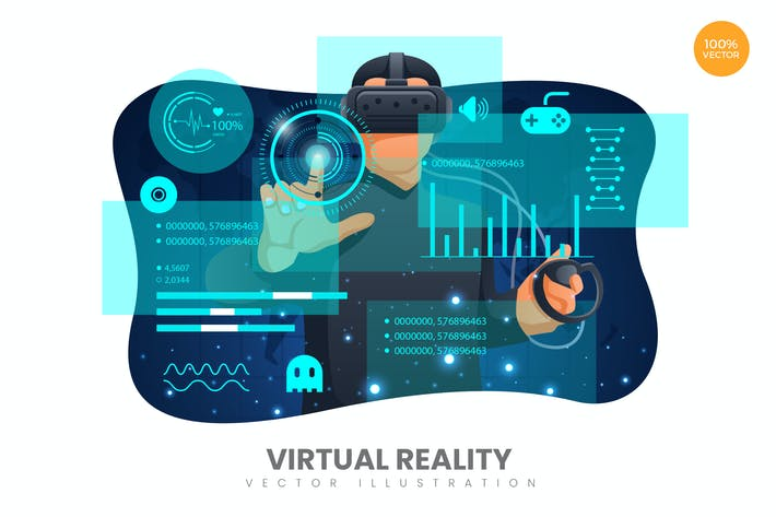 Thumbnail for Virtual Reality Vector Illustration Concept