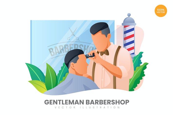 Thumbnail for Gentleman Barbershop Vector Illustration Concept