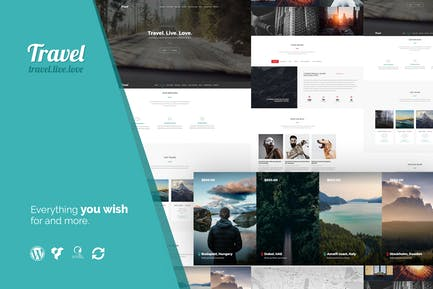 Travel - One Page Modern Tour Agency WP Theme