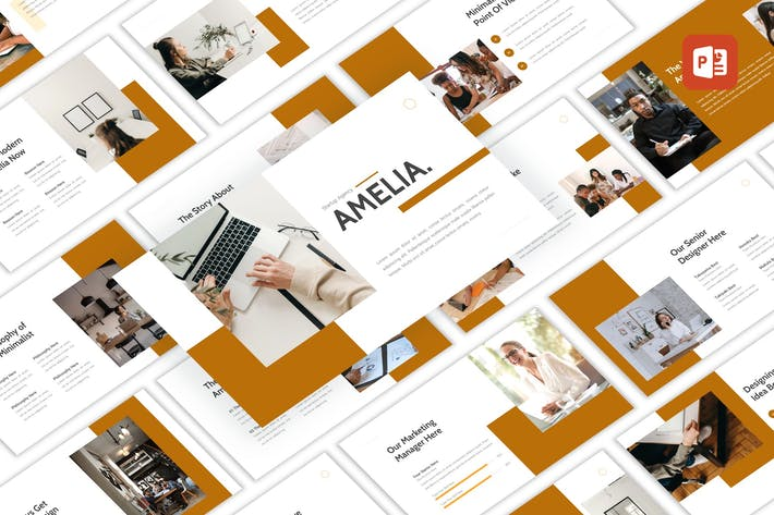 Thumbnail for Amelia - Startup Agency PowerPoint Template