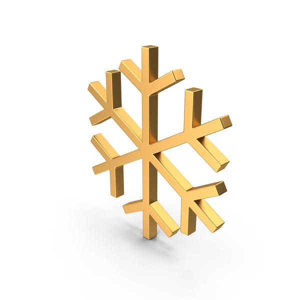 Snowflakes Symbol Gold