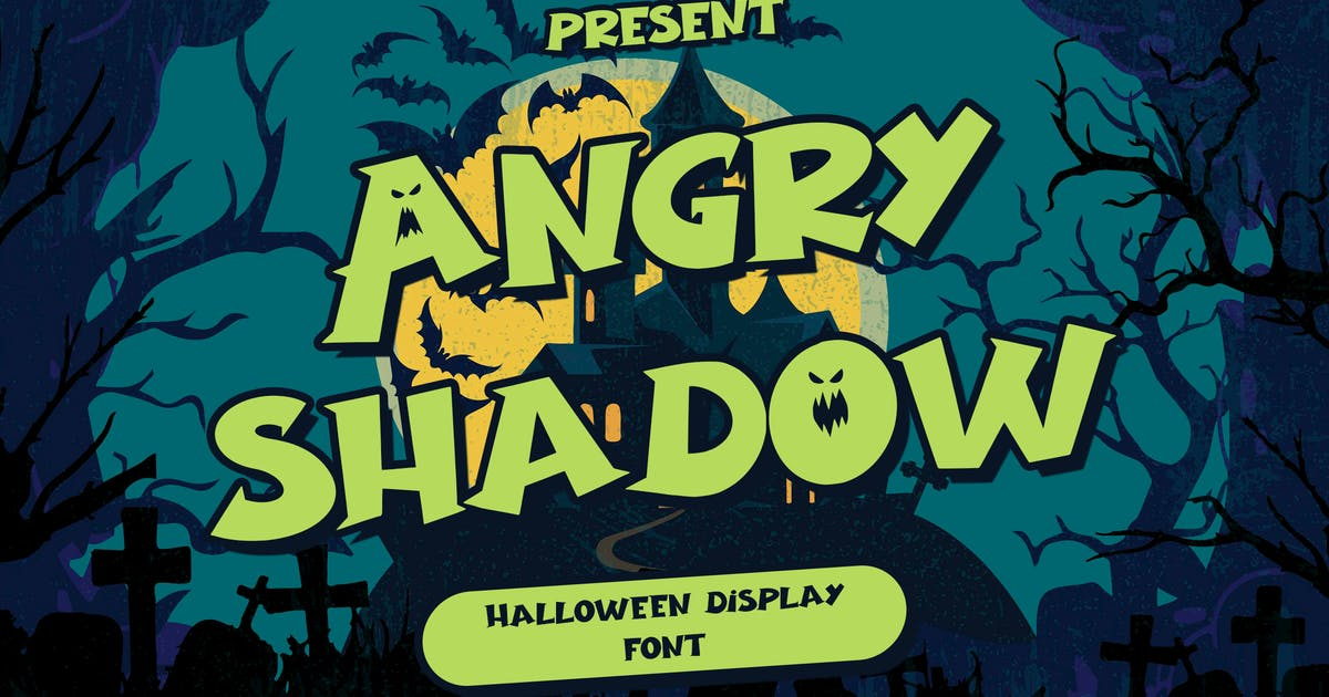 Download Angry Shadow - Halloween Display Font by arendxstudio