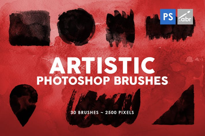 Thumbnail for 30 Artistic Photoshop Stamp Brushes Vol.2