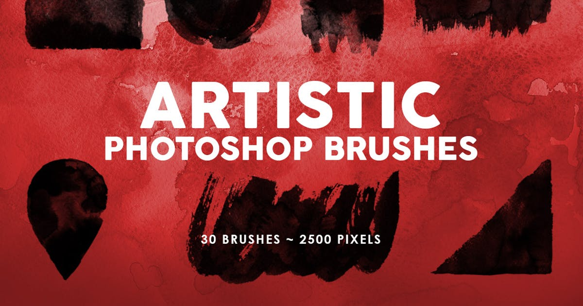 Download 30 Artistic Photoshop Stamp Brushes Vol.2 by M-e-f