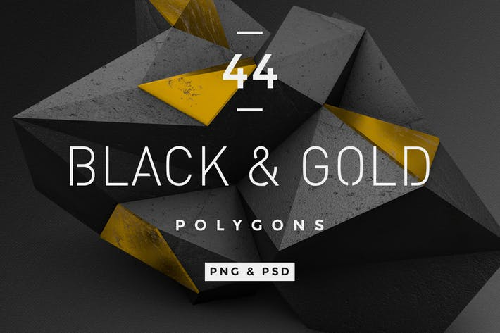 Thumbnail for Black and Gold Polygons