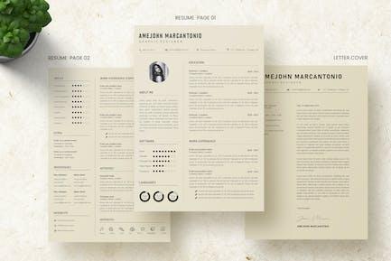 Minilist CV Resume Template