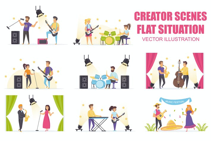 Thumbnail for Collection Music Festival Flat Scene Situation