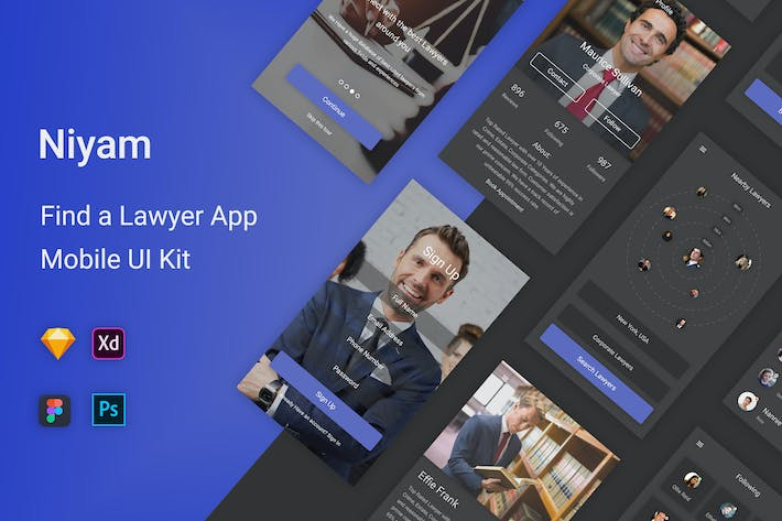 Thumbnail for Niyam - Find A Lawyer UI Kit