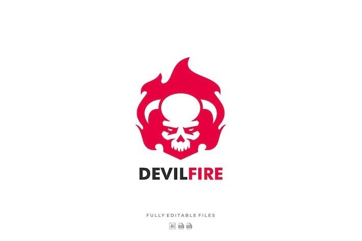Thumbnail for Devil Fire Sports and E-sports Style Logo