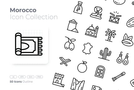 Morocco Outline Icon