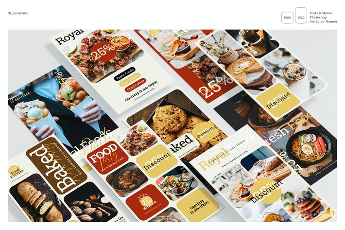 Thumbnail for Food Instagram Stories Template