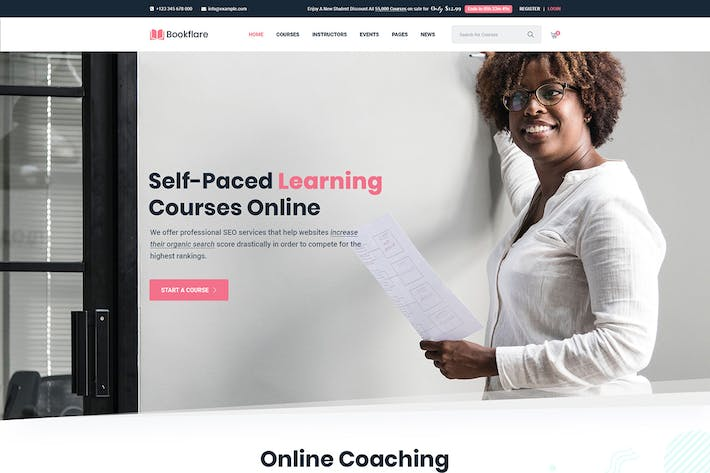 Thumbnail for Bookflare - A Modern Education & LMS WordPress The