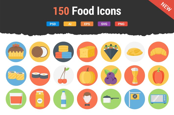 Thumbnail for 150 Food Icons