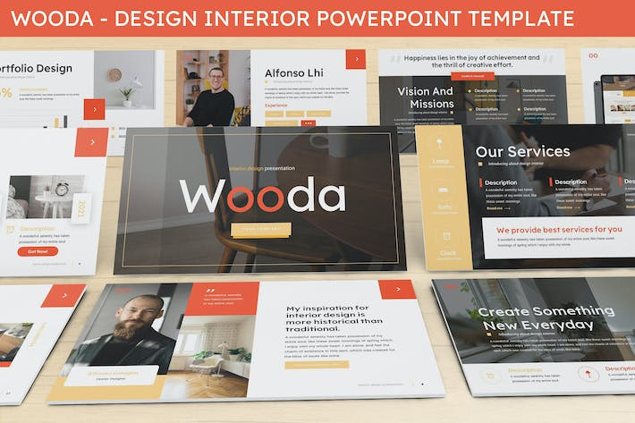 Thumbnail for Wooda - Design Interior Powerpoint Template