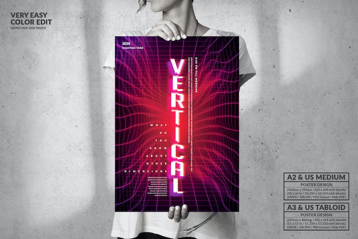 Thumbnail for Vertical Music Party - Big Poster Design