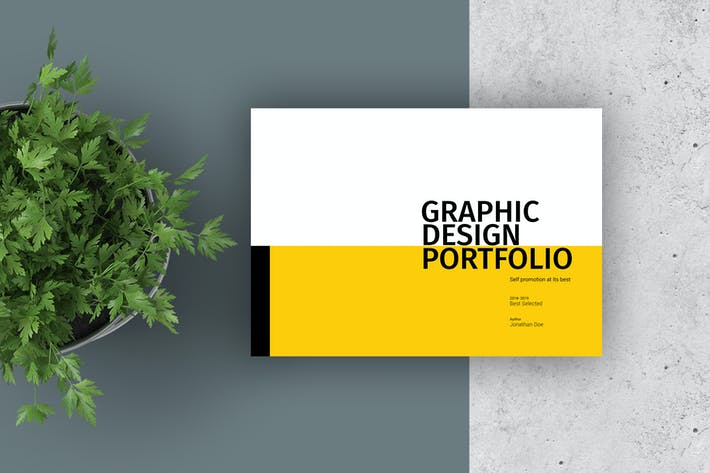 graphic design portfolio template by adekfotografia on envato elements