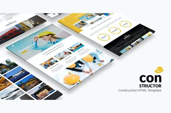 Thumbnail for Constructeur | Modèle HTML de construction