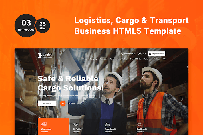 Thumbnail for Logisti - Logistics & Transport HTML5 Template
