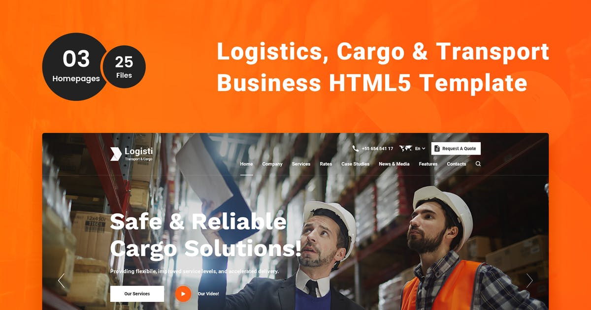 Download Logisti - Logistics & Transport HTML5 Template by 7oroof