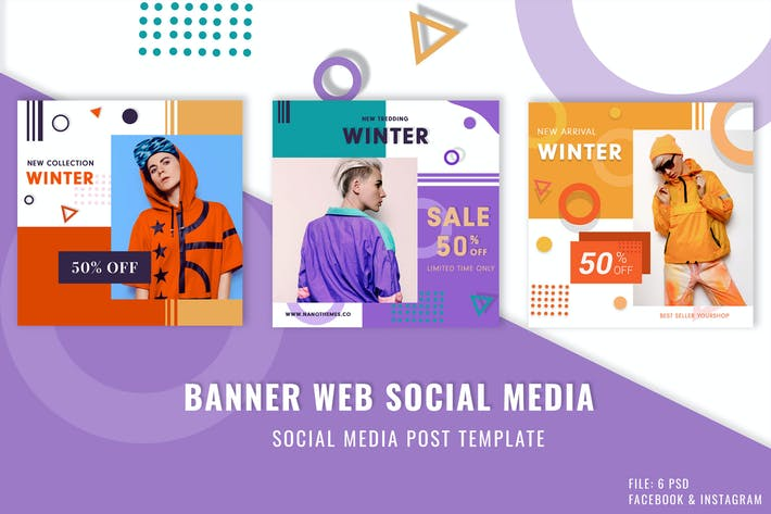Thumbnail for Modern Sale Banner Web Social Media