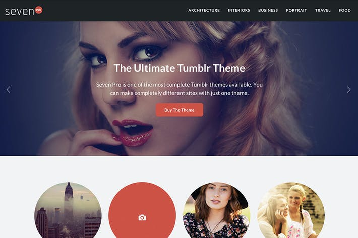 Thumbnail for Seven Pro Tumblr Theme