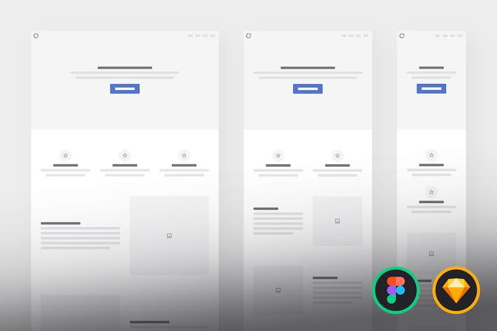 Thumbnail for Responsive Wireframe Kit