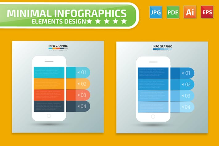 Cover Image For Mobile phone Infographic Design