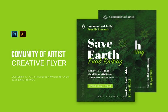 Community Of Artist - Flyer