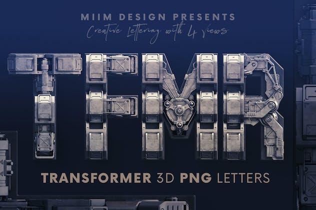 Transformer - 3D Lettering