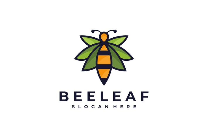 Thumbnail for Bee Leaf Nature Logo Template