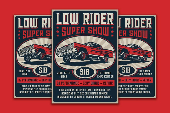 Thumbnail for Lowrider Super Show Flyer Template