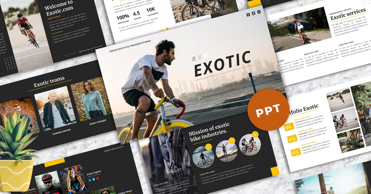 Download Exotic - Creative PowerPoint Template by Yumnacreative