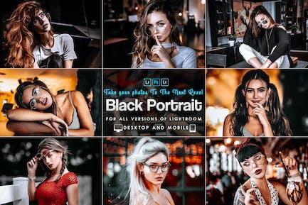 Black Tones Portrait Lightroom Prestes