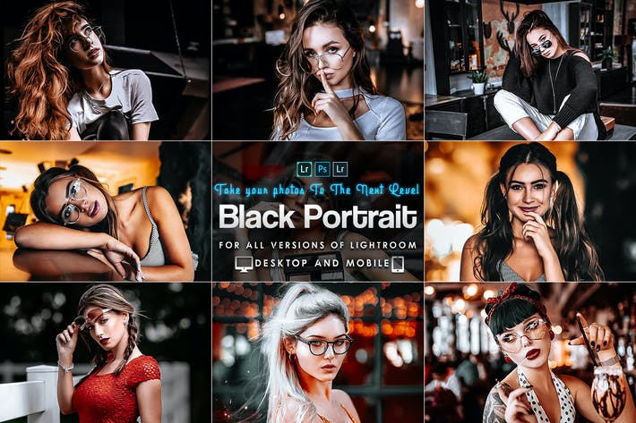 Thumbnail for Black Tones Portrait Lightroom Prestes