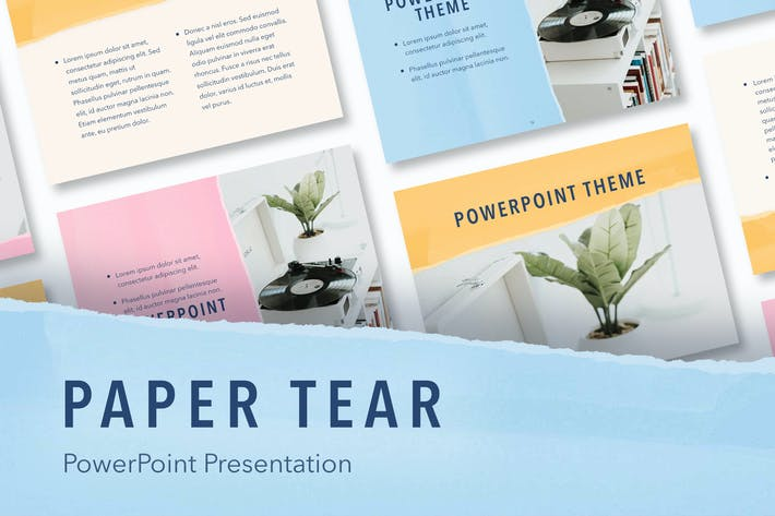 Thumbnail for Paper Tear PowerPoint Template