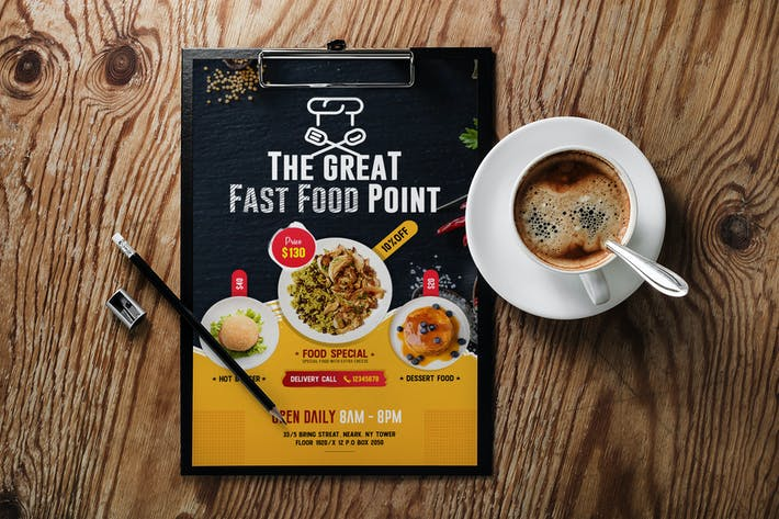 Cover Image For Restaurants Food Flyer Template