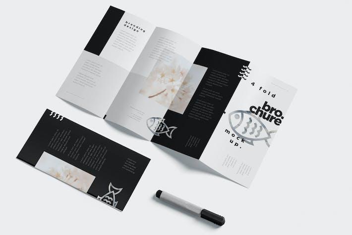Thumbnail for 4 Fold Brochure Mockups