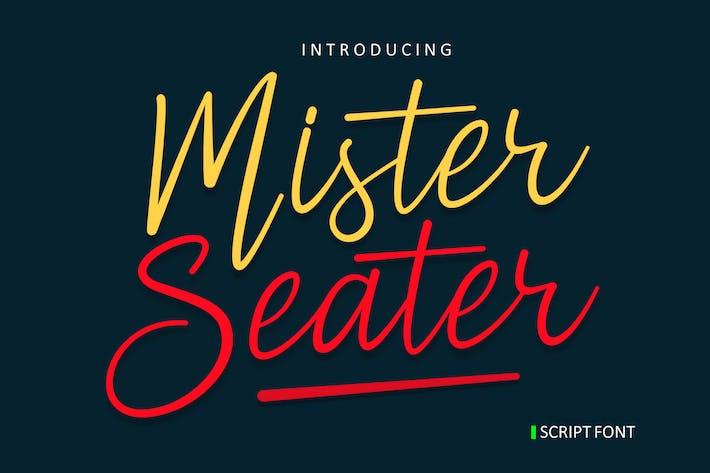 Thumbnail for Mister Seater - Script Font