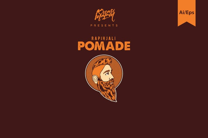 Thumbnail for Pomade Logo Template