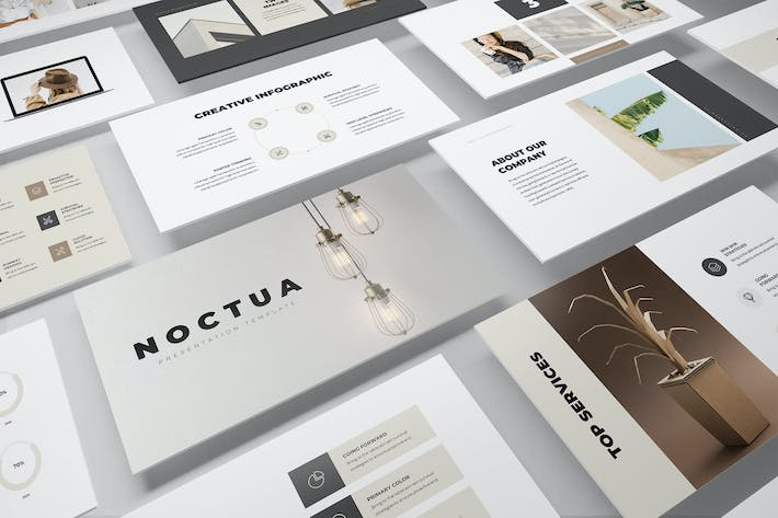 Thumbnail for Noctua Minimal PowerPoint Presentation Template