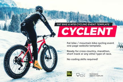 Cyclent — Plantilla para eventos de carreras de ciclismo de invierno