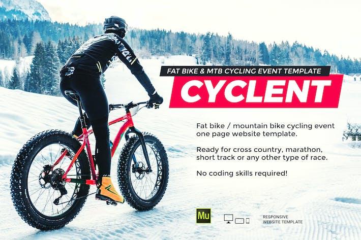 Thumbnail for Cyclent — Modèle d'événement de course cycliste d'hiver