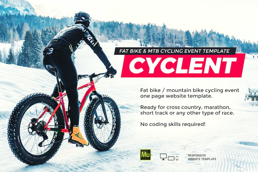 Cyclent – Winter Cycling Race Event Template - product preview 0