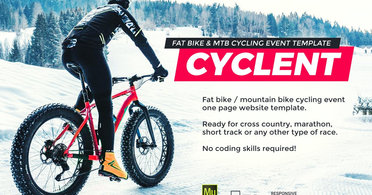 Download Cyclent – Winter Cycling Race Event Template by vinyljunkie
