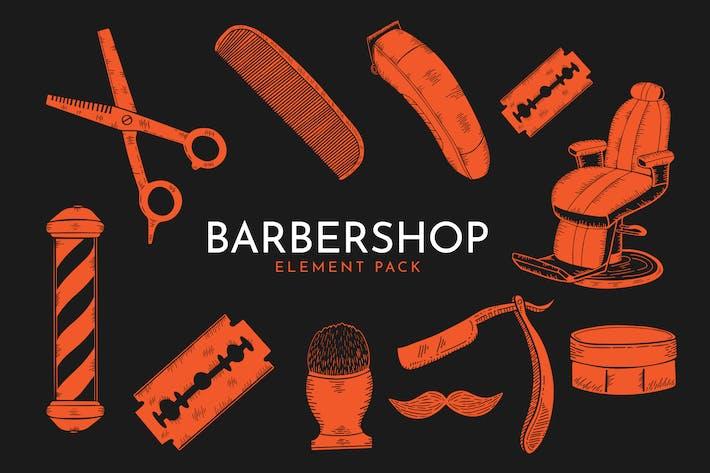Thumbnail for Barbershop Set - Vector