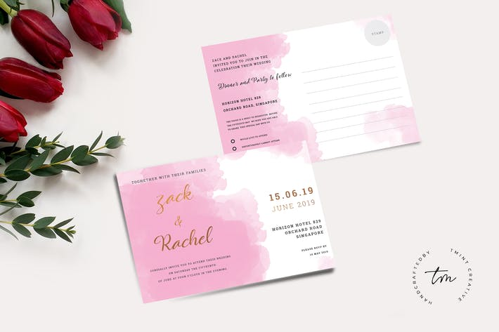 26 landscape vector wedding invitations print templates and logos thumbnail for wedding invitation rsvp cards stopboris Image collections