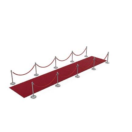 Silber Seil Barrieren mit Red Carpet Läufer