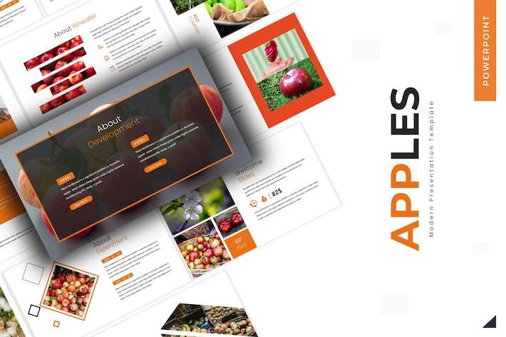 Яблоки - Шаблон Powerpoint