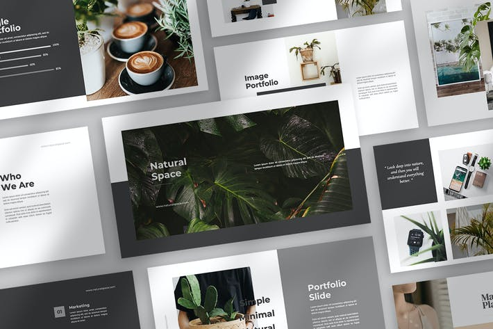 Thumbnail for Natural Space Powerpoint Template