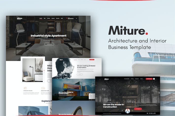 Thumbnail for Miture - Architecture & Interior Business Template